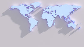 Blue world map from above Stock Images