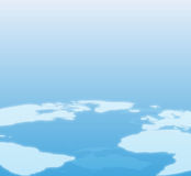 Blue World Map Background Stock Photo