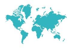 Blue world map Stock Image