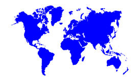 Blue world map Royalty Free Stock Photo