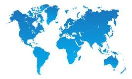 Free Blue World Map On White Royalty Free Stock Image - 158644956