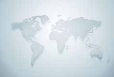 Blue world map silhouette Stock Photos