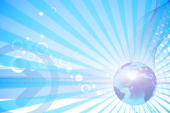 Blue world news Stock Photo