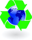 Blue world recycling Stock Image