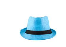Blue woven hat Royalty Free Stock Photography