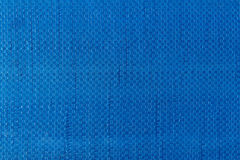 Blue woven plastic cloth texture Stock Image