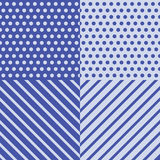 Blue wrapping pattern Stock Image