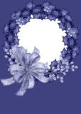 Blue Wreath Photo Card Background Royalty Free Stock Images