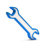 Blue wrench icon Stock Image