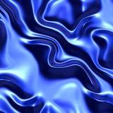 Blue wrinkled fabric Stock Image