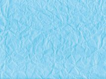Blue wrinkled paper Royalty Free Stock Photos