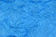 Blue wrinkled paper texture Stock Photography