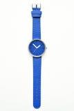 Blue wristwatches. Isolated on white background Stock Photos