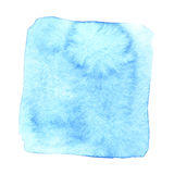 Blue wry watercolor square. With stains. Abstract element for your design Royalty Free Stock Photos