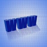 Blue www. 3d www, www blue symbol internet web business isolated Stock Photo
