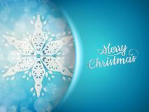 Blue xmas background with snowflakes. EPS 10. Blue xmas background with snowflakes and blurry lights. EPS 10 vector file included Stock Photography