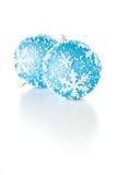 Blue Xmas Balls Royalty Free Stock Photography