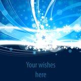 Blue Xmas card Stock Photo