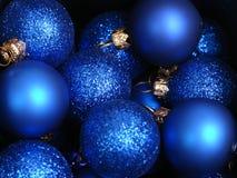 Blue xmas decorations Stock Image