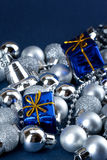Blue xmas gifts Stock Photo
