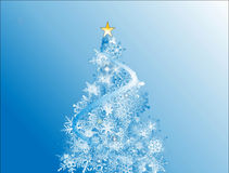 Blue xmas holiday background Stock Photography