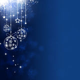 Blue Xmas Holiday Balls Royalty Free Stock Image