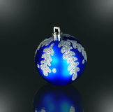 Blue  xmas ornaments Royalty Free Stock Photo