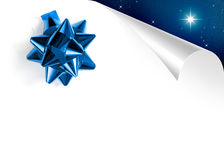 Blue Xmas Page Stock Photography