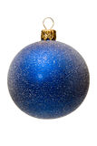 Blue xmas tree ball, isolated Stock Photography