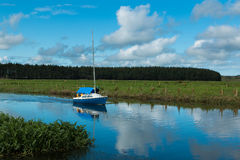 Blue Yacht Stock Images