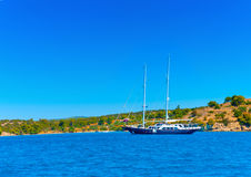 Blue Yacht Royalty Free Stock Image