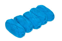 Blue yarn Stock Photo
