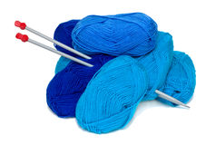 Blue yarn Stock Images