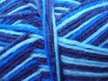 Blue yarn Stock Image