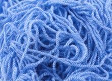 Blue yarn Stock Photo