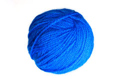 Blue yarn ball Stock Image
