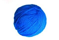 Blue yarn ball Stock Image