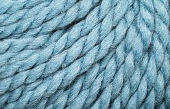 Blue Yarn Close Up Royalty Free Stock Photos