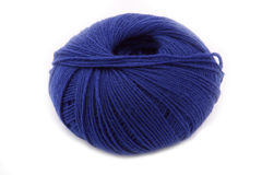Blue yarn made of bamboo-cotton Stock Photo