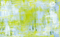 Blue and yellow abstract acryl painting Royalty Free Stock Photography