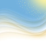 Blue and yellow abstract background. Blue and yellow wave abstract background Stock Photo