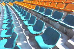 blue and yellow auditorium  Royalty Free Stock Images