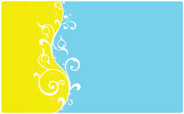 Blue and Yellow background Stock Image
