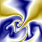 Blue and yellow background. Melting blue and yellow colors on abstract background. Galactic blurred image Royalty Free Stock Images