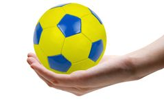 Blue and yellow ball Royalty Free Stock Photo