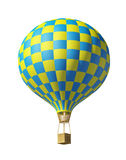 Blue-yellow balloon. Isolated on white 3d blue-yellow balloon Royalty Free Stock Photos