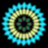 Blue and yellow blured radial pattern stock illustration
