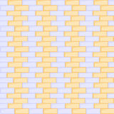 Blue and yellow brick wall seamless. Background Royalty Free Stock Photography