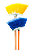 Blue and yellow brush Stock Photos