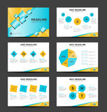 Blue and yellow business presentation Template and info graphics Royalty Free Stock Photography